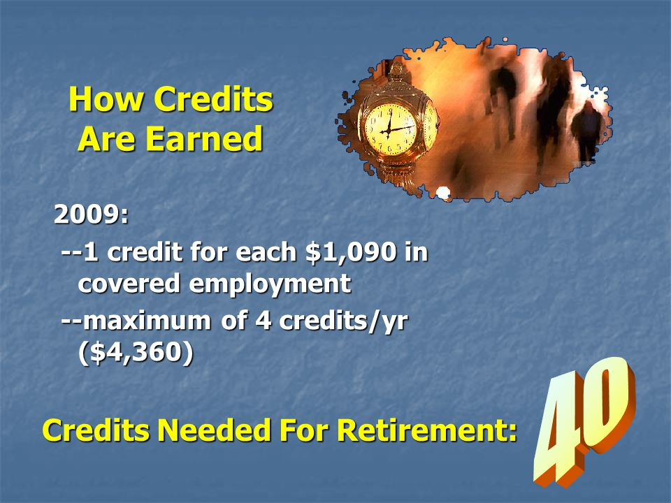 Credits Needed For Retirement: