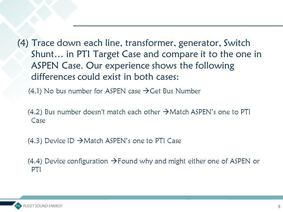 (4.1) No bus number for ASPEN case Get Bus Number