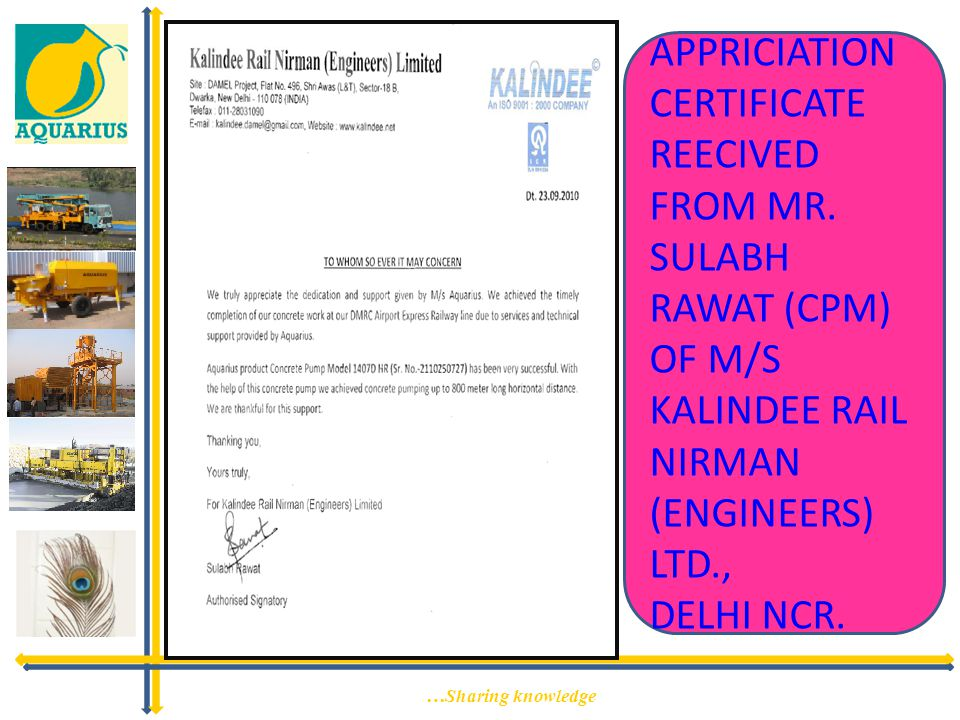 APPRICIATION CERTIFICATE REECIVED FROM MR
