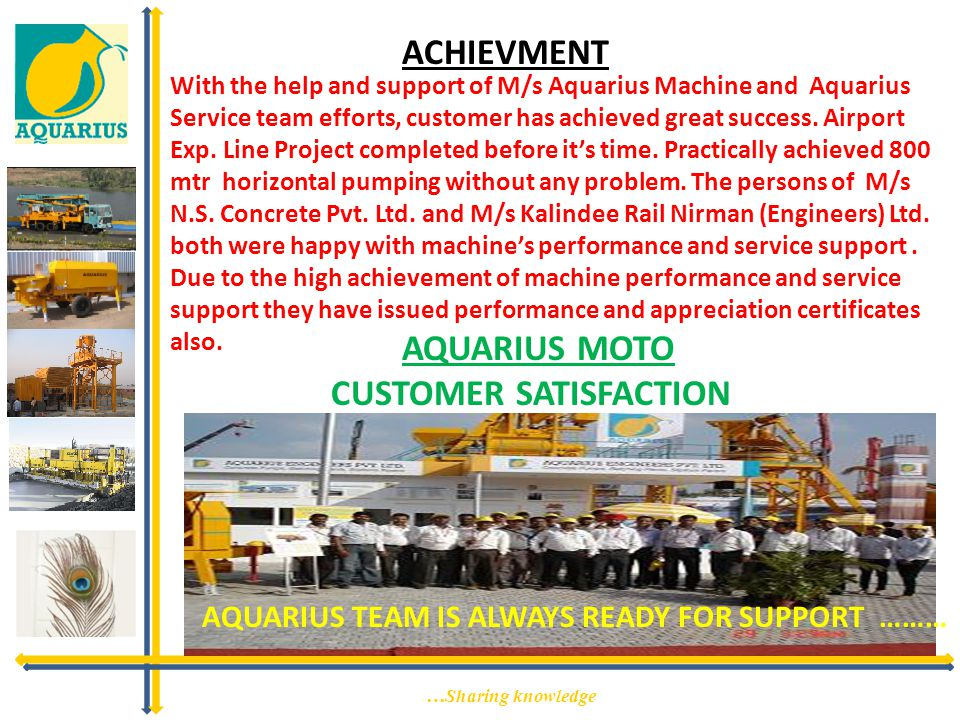 ACHIEVMENT AQUARIUS TEAM IS ALWAYS READY FOR SUPPORT ………