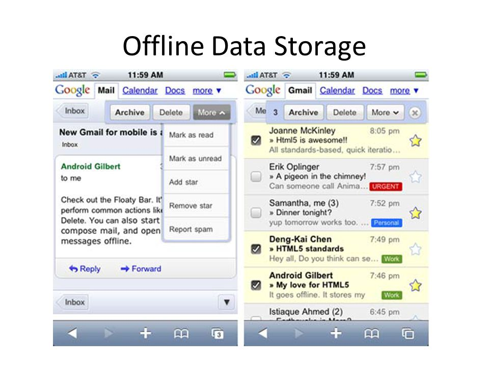 Offline Data Storage