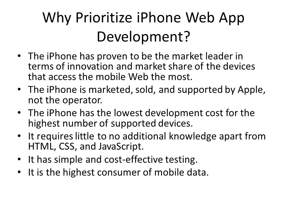 Why Prioritize iPhone Web App Development