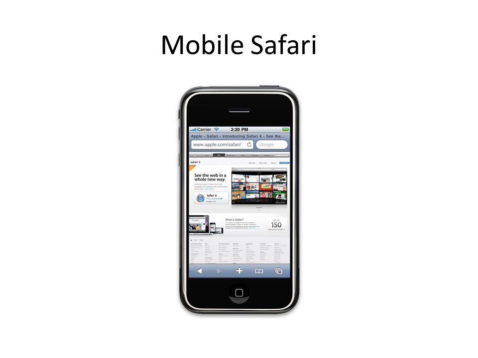 Mobile Safari