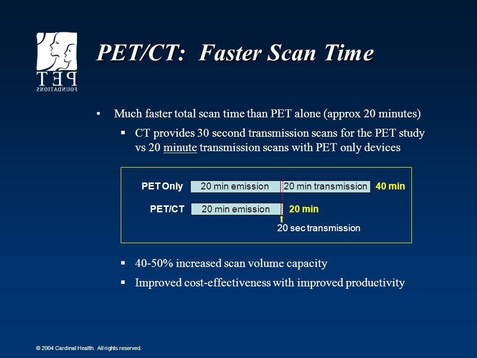 PET/CT: Faster Scan Time