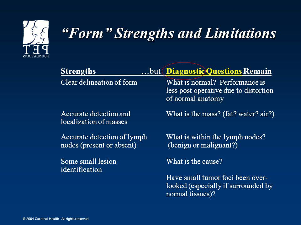 Form Strengths and Limitations
