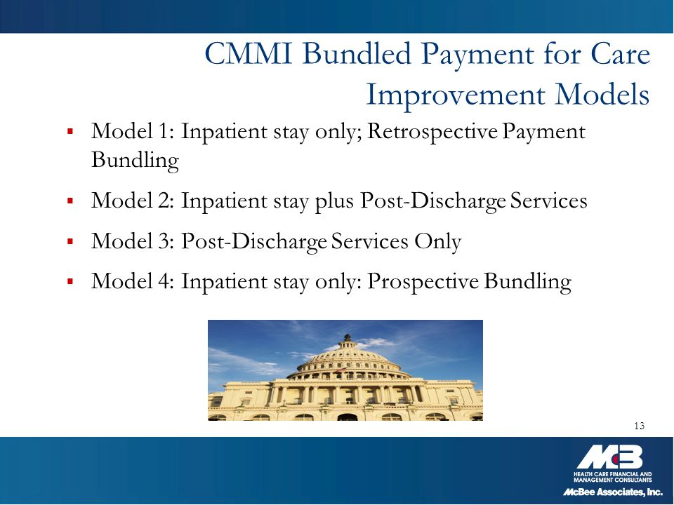 CMMI Bundled Payment for Care Improvement Models