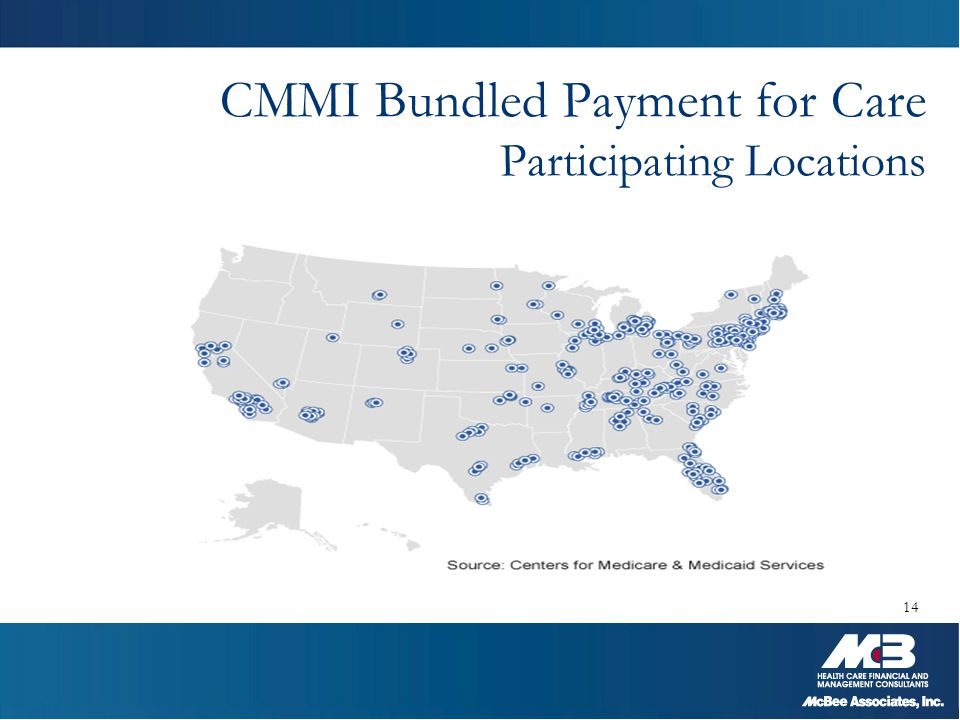 CMMI Bundled Payment for Care Participating Locations