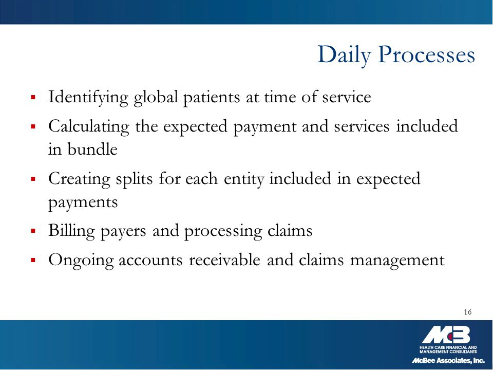 Daily Processes Identifying global patients at time of service