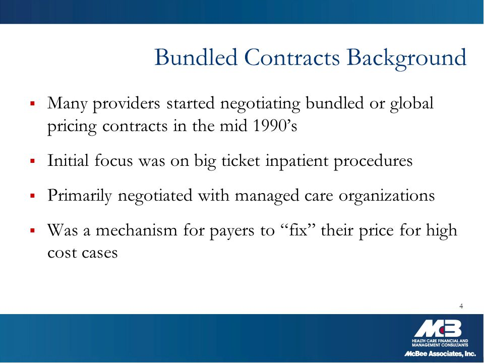 Bundled Contracts Background