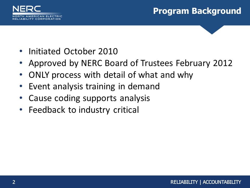 Approved by NERC Board of Trustees February 2012