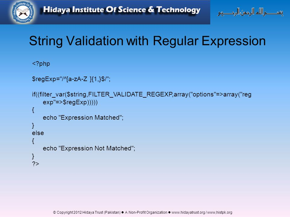 String Validation with Regular Expression