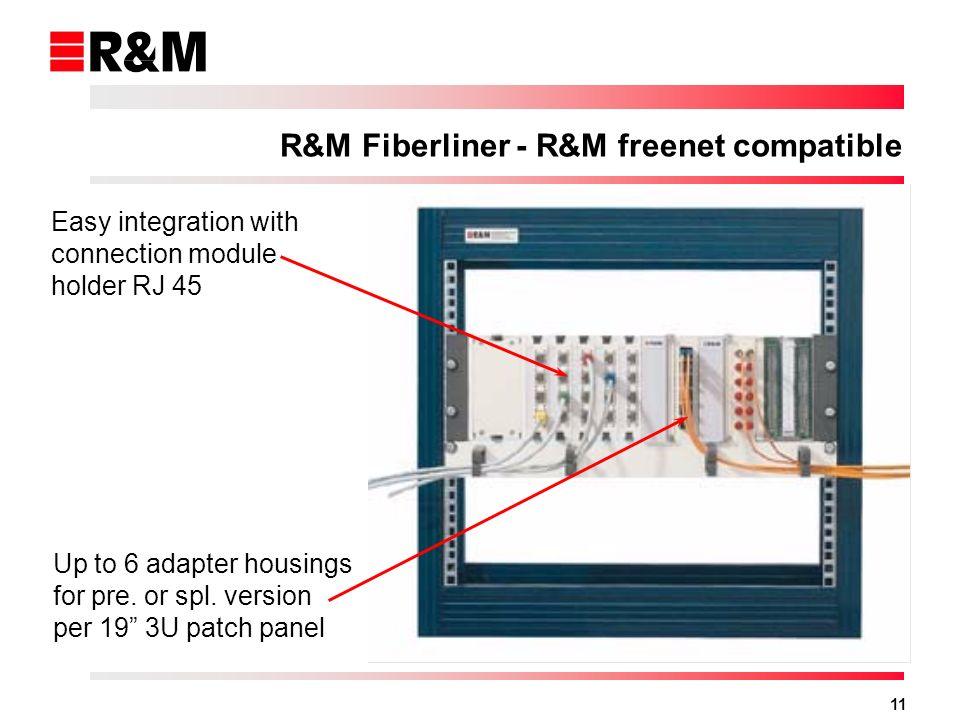 R&M Fiberliner - R&M freenet compatible