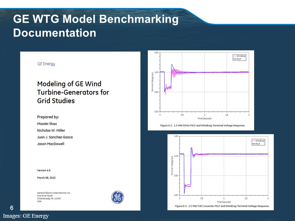 GE WTG Model Benchmarking Documentation