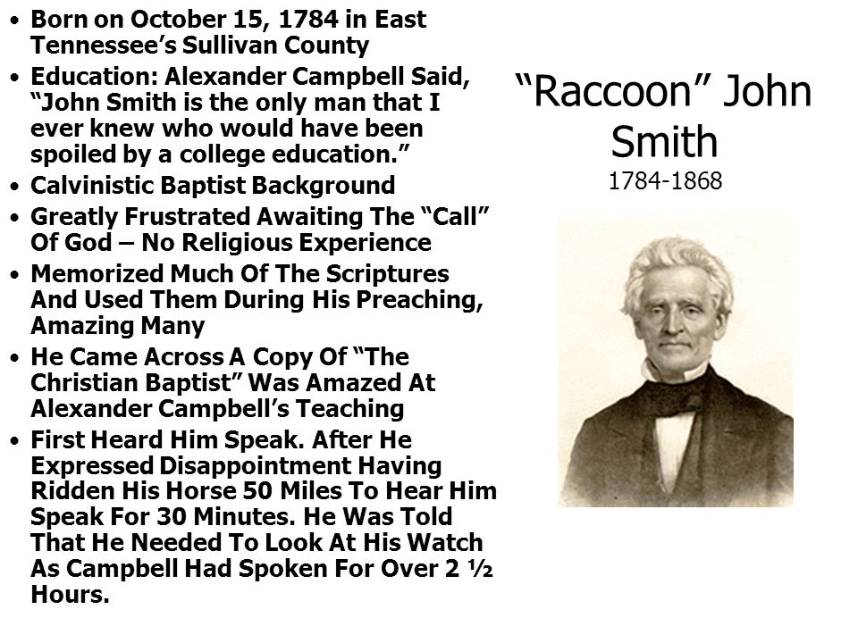Born on October 15, 1784 in East Tennessee's Sullivan County