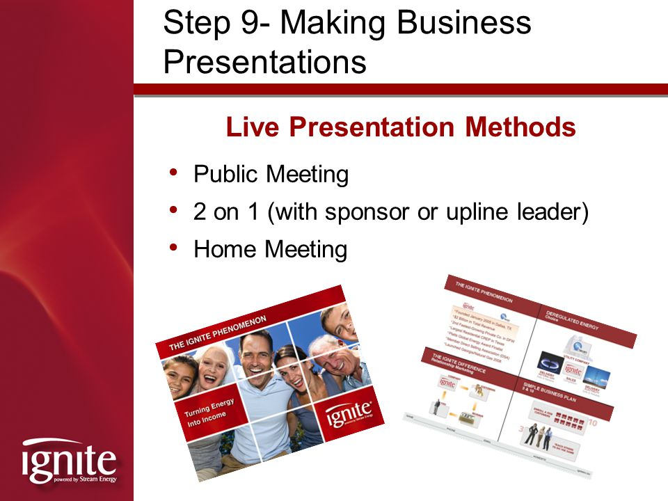 Live Presentation Methods