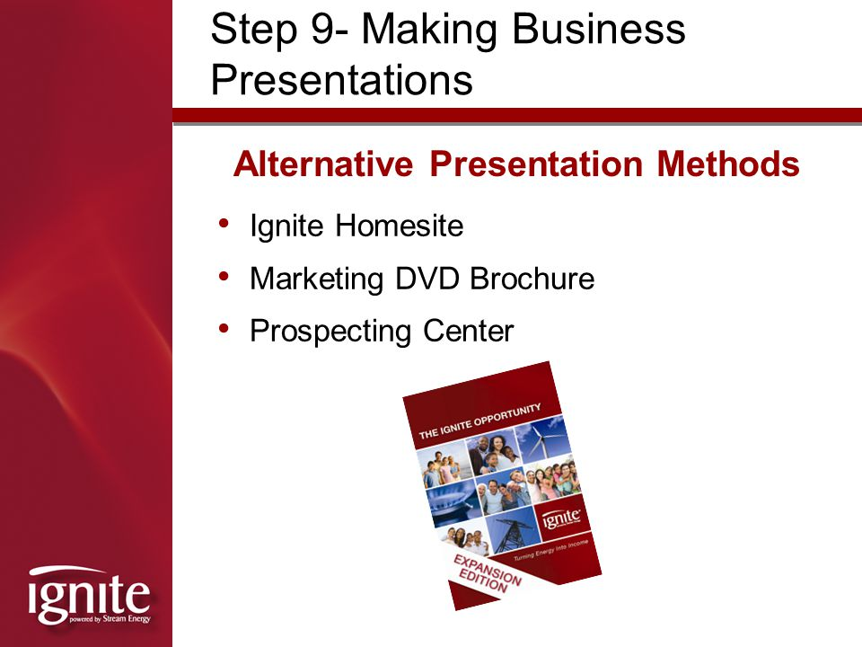Alternative Presentation Methods
