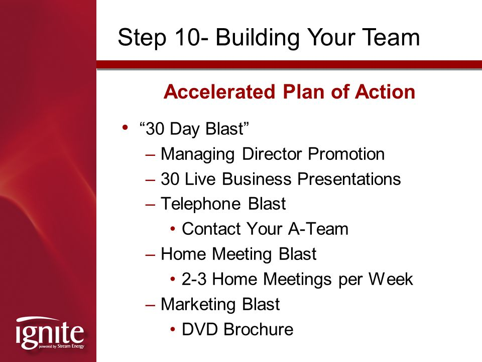 Accelerated Plan of Action