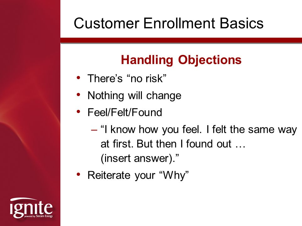 Customer Enrollment Basics