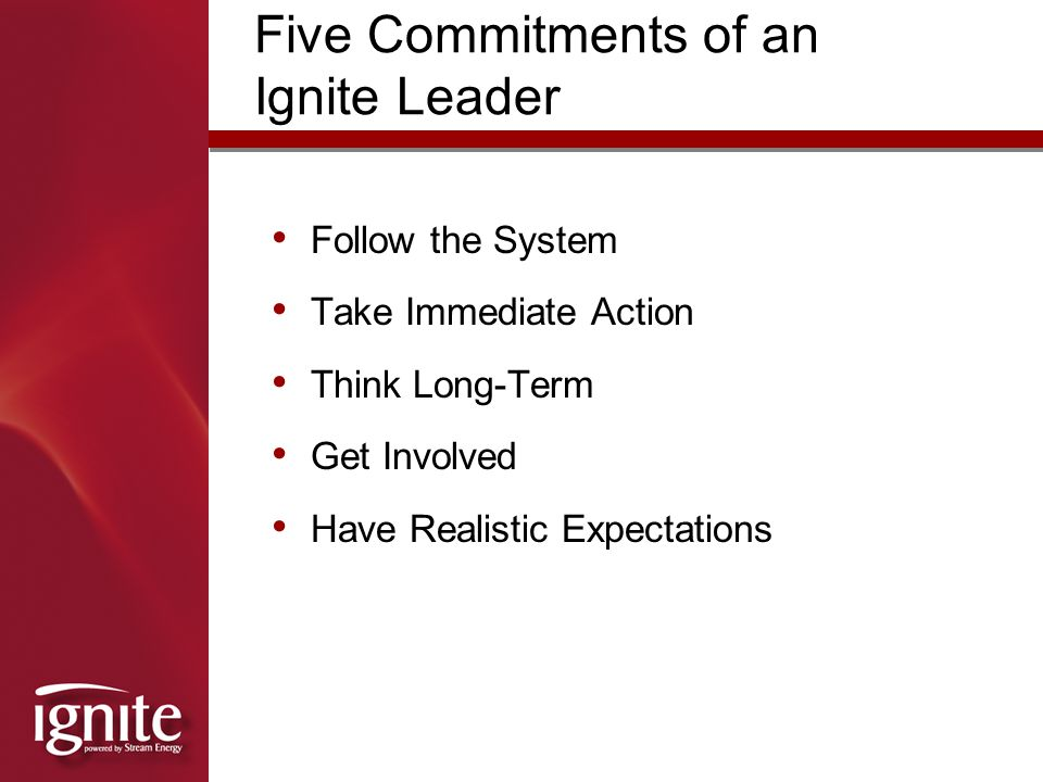 Five Commitments of an Ignite Leader