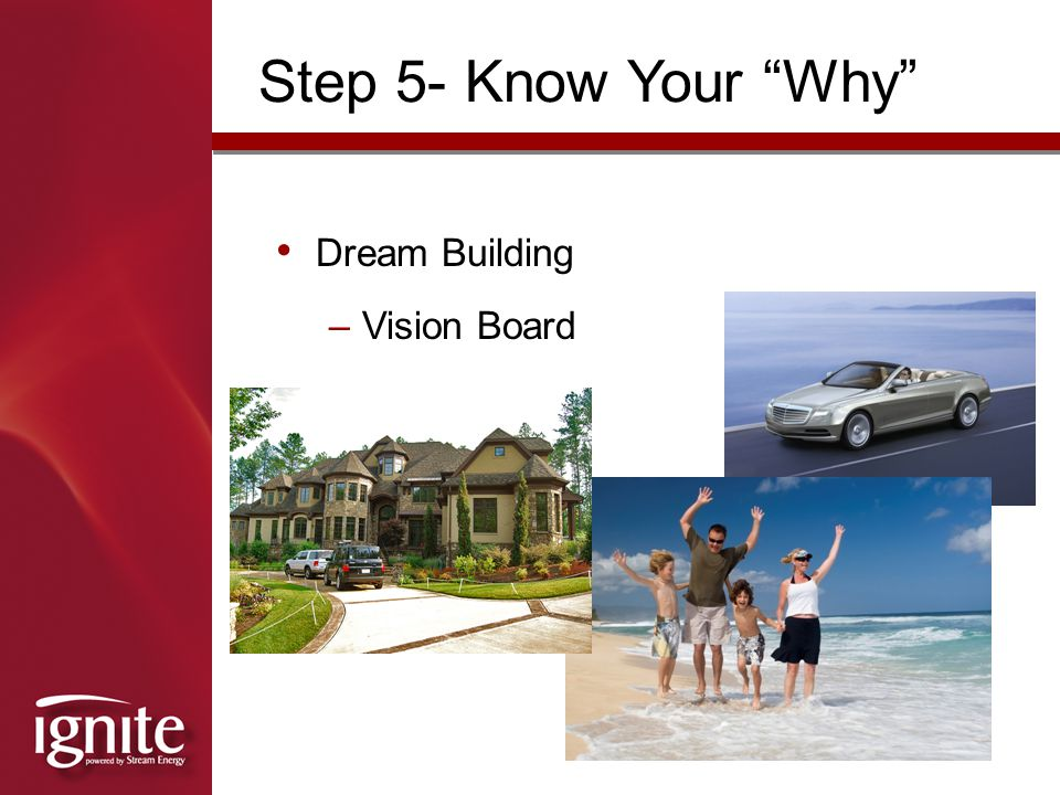 Step 5- Know Your Why Dream Building Vision Board