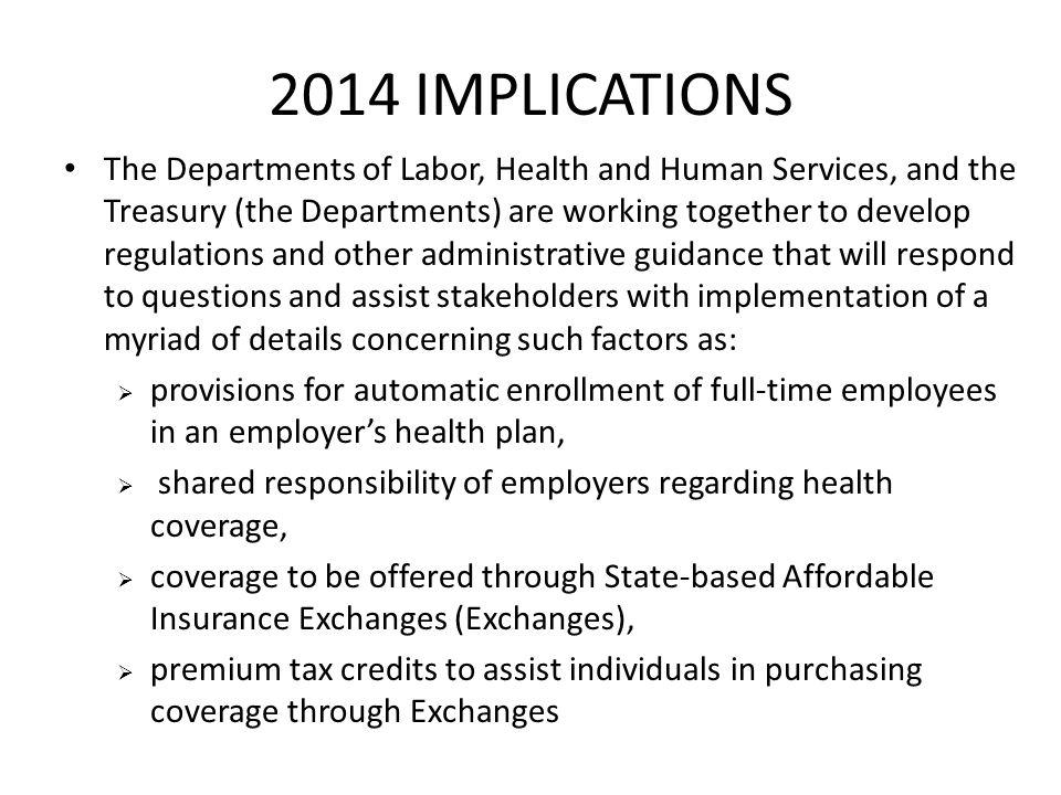 2014 IMPLICATIONS