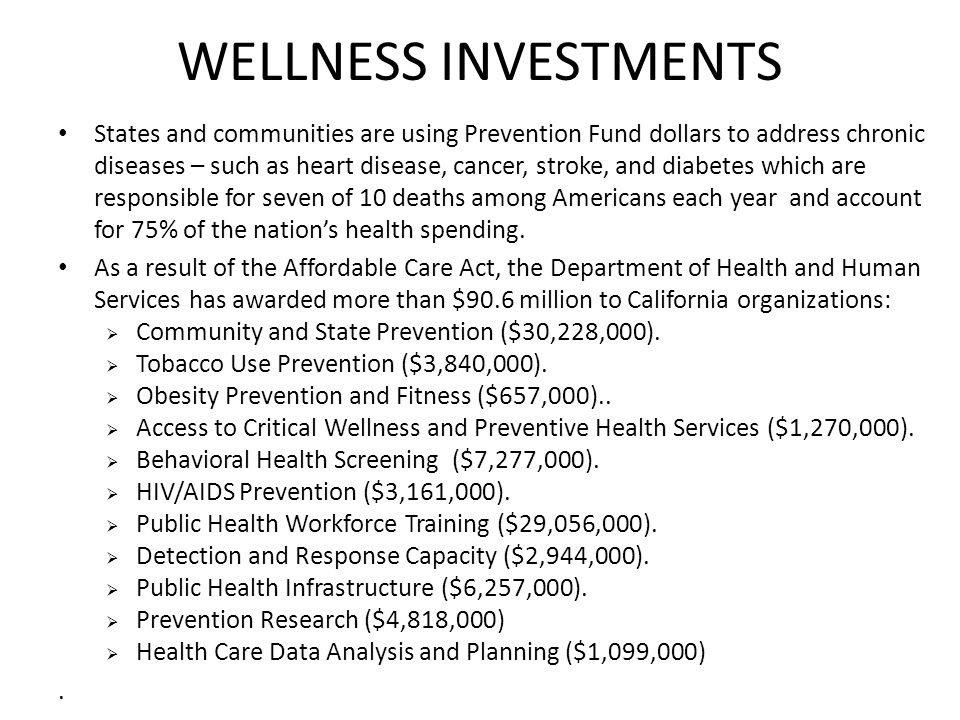 WELLNESS INVESTMENTS