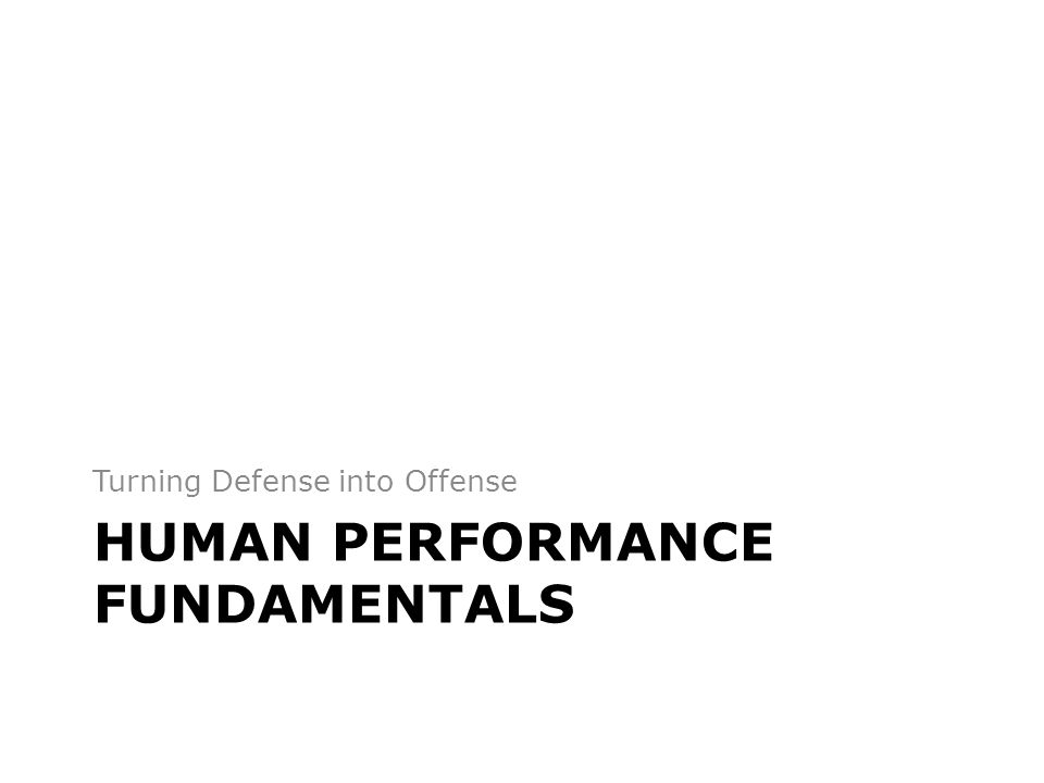 Human Performance Fundamentals