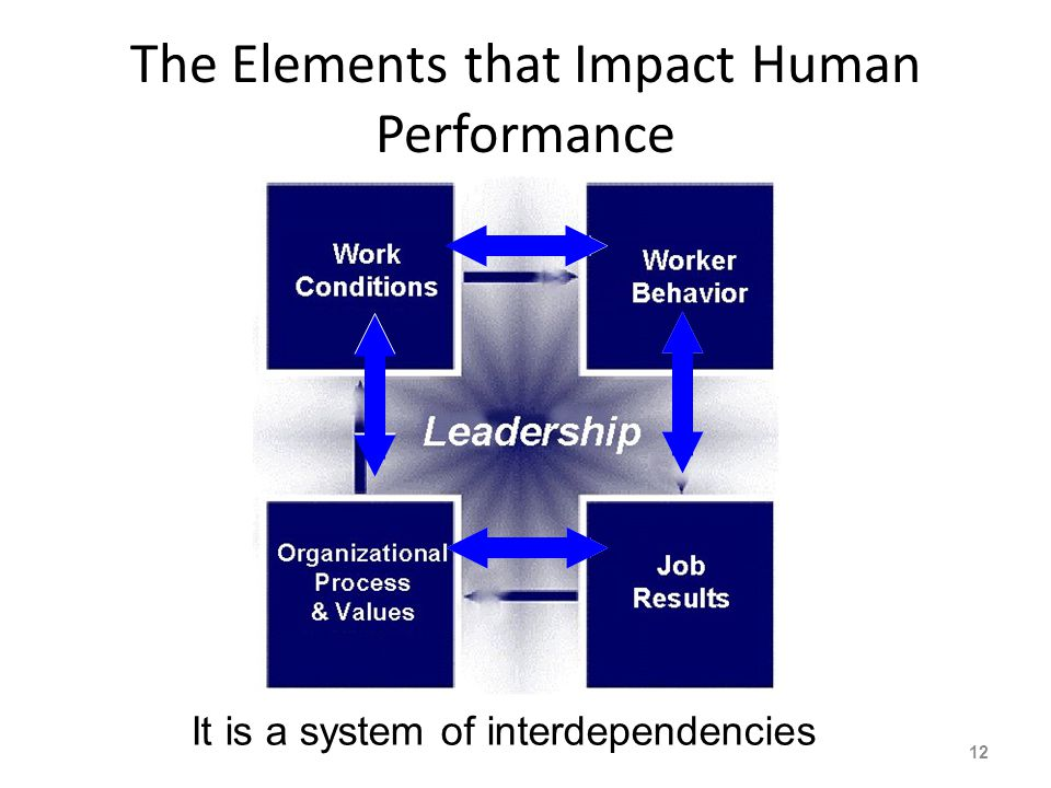 The Elements that Impact Human Performance