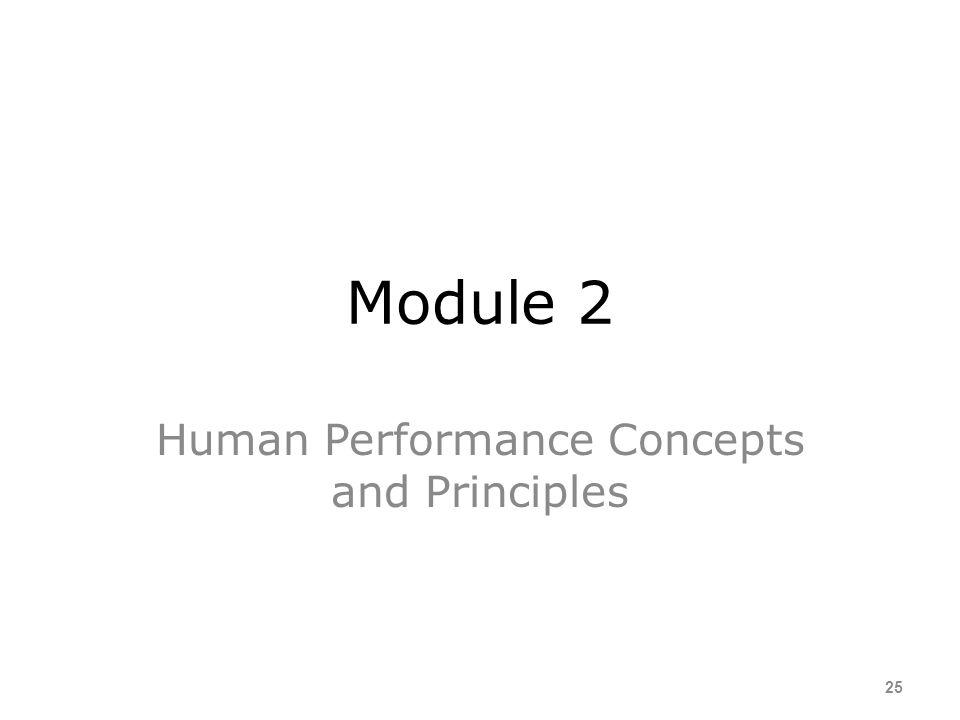 Human Performance Concepts and Principles