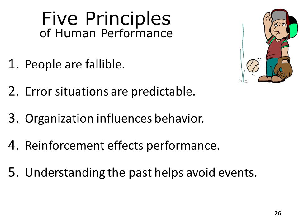 Human behaviour and performance are the