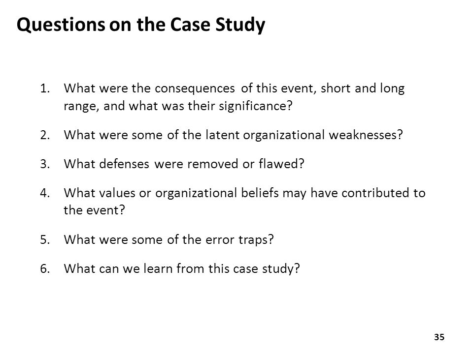 Questions on the Case Study