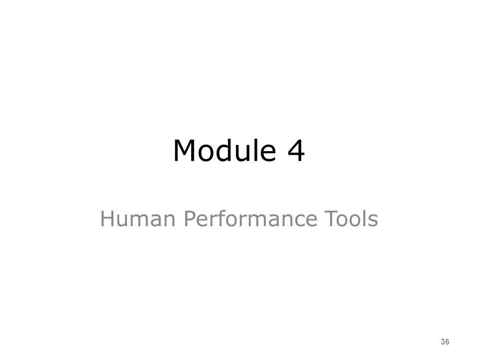 Human Performance Tools