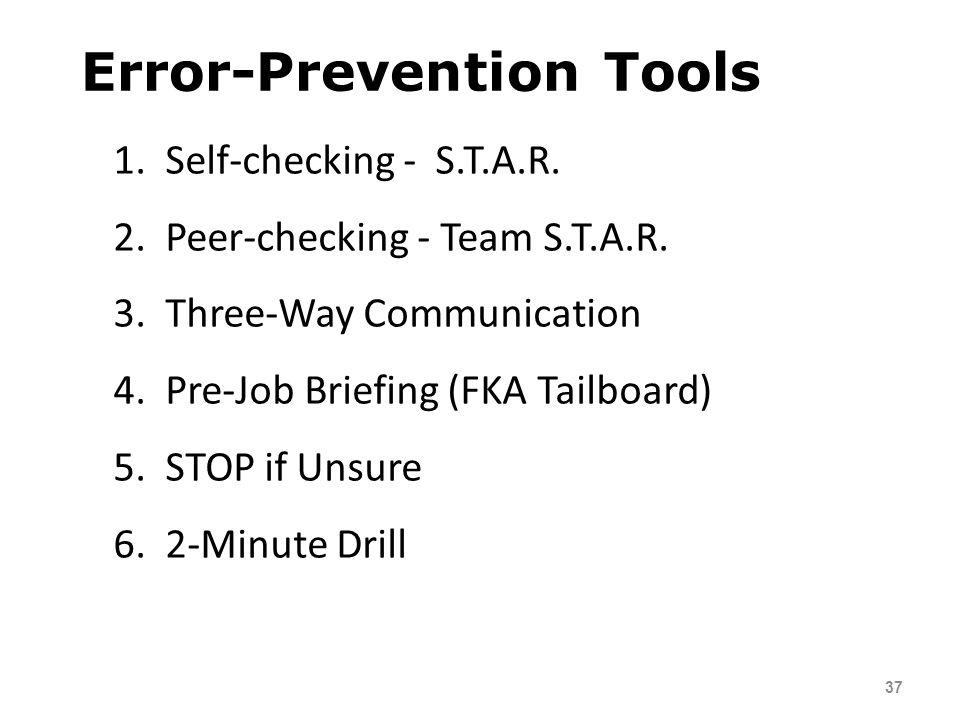 Error-Prevention Tools