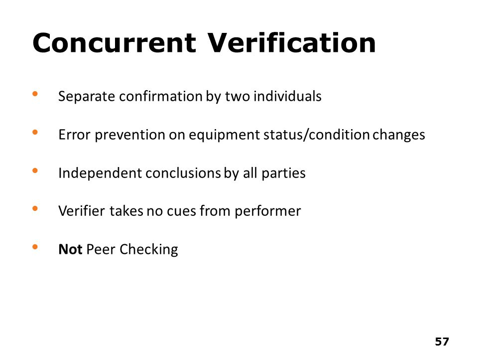 Concurrent Verification