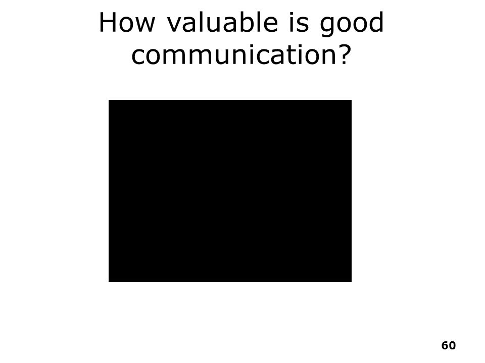 How valuable is good communication