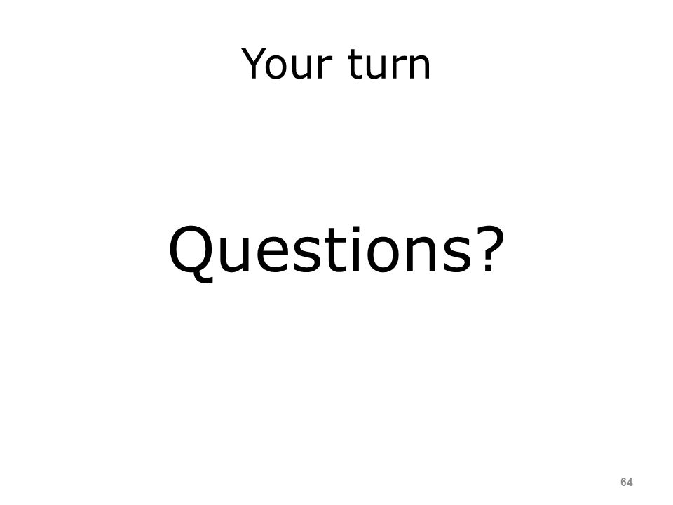 Your turn Questions