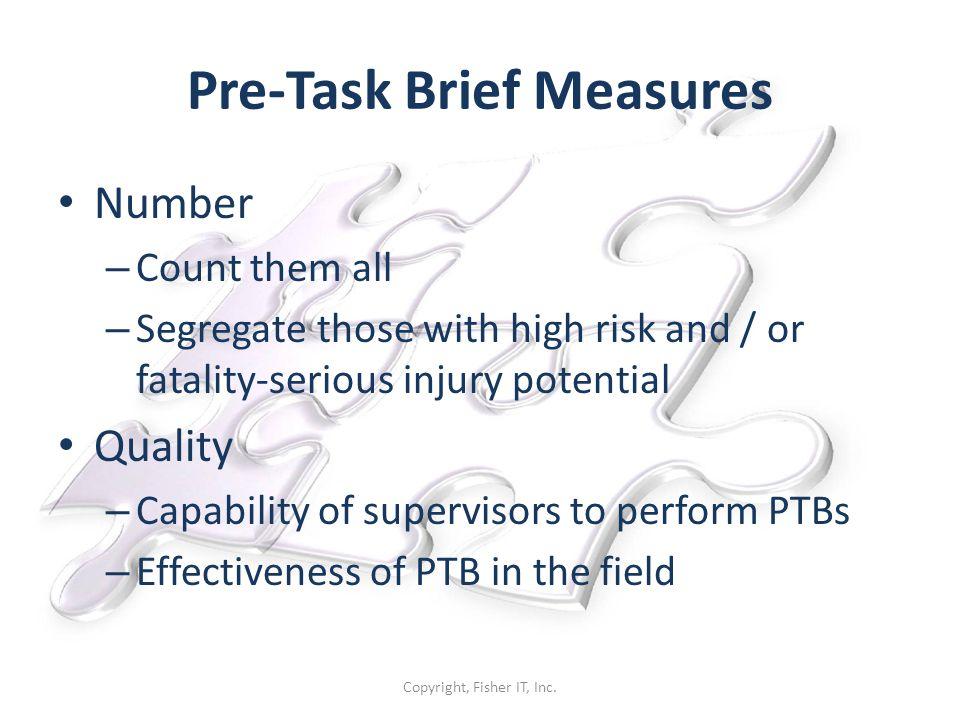 Pre-Task Brief Measures