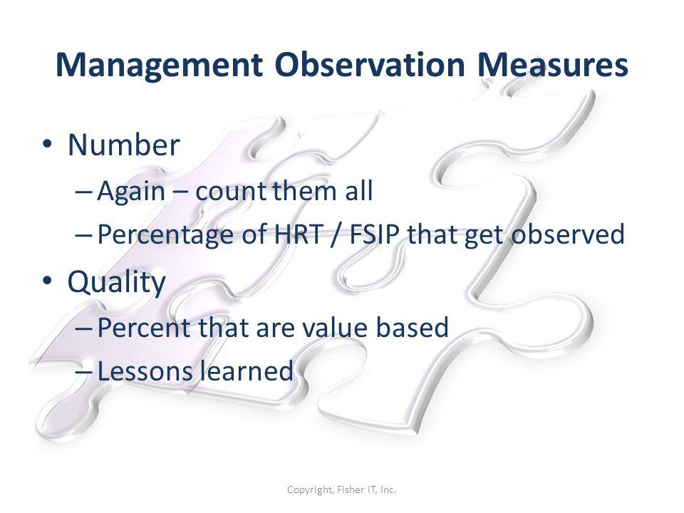 Management Observation Measures