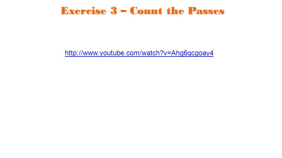 Exercise 3 – Count the Passes