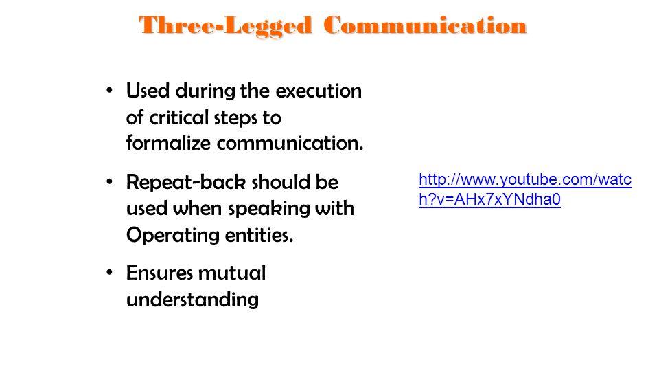 Three-Legged Communication