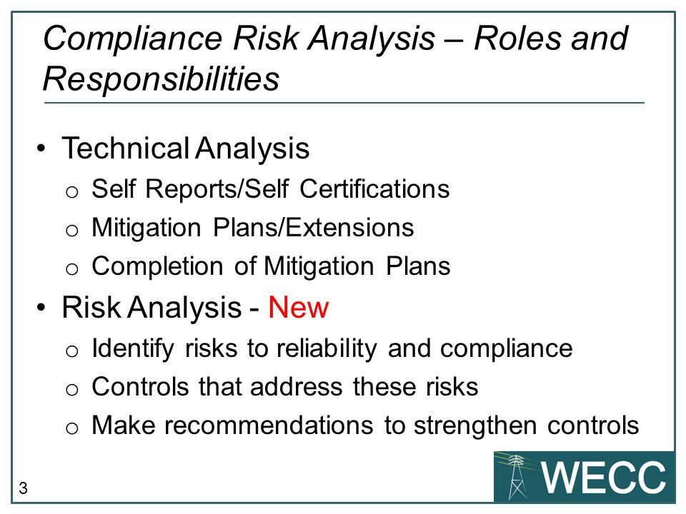 Compliance Risk Analysis – Roles and Responsibilities