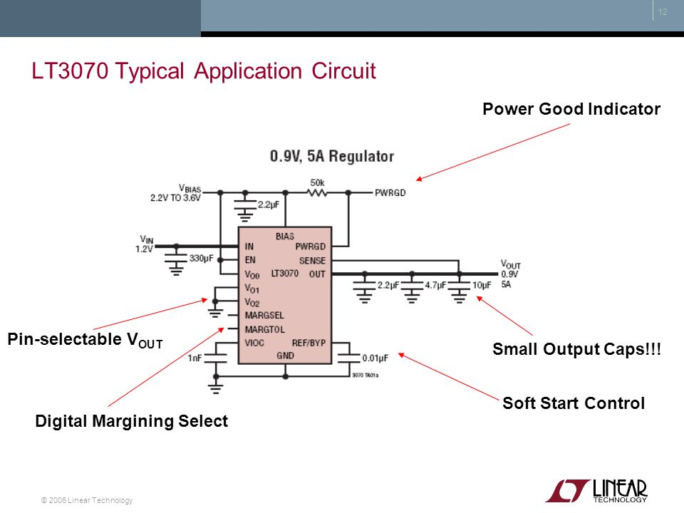 LT3070 Typical Application Circuit