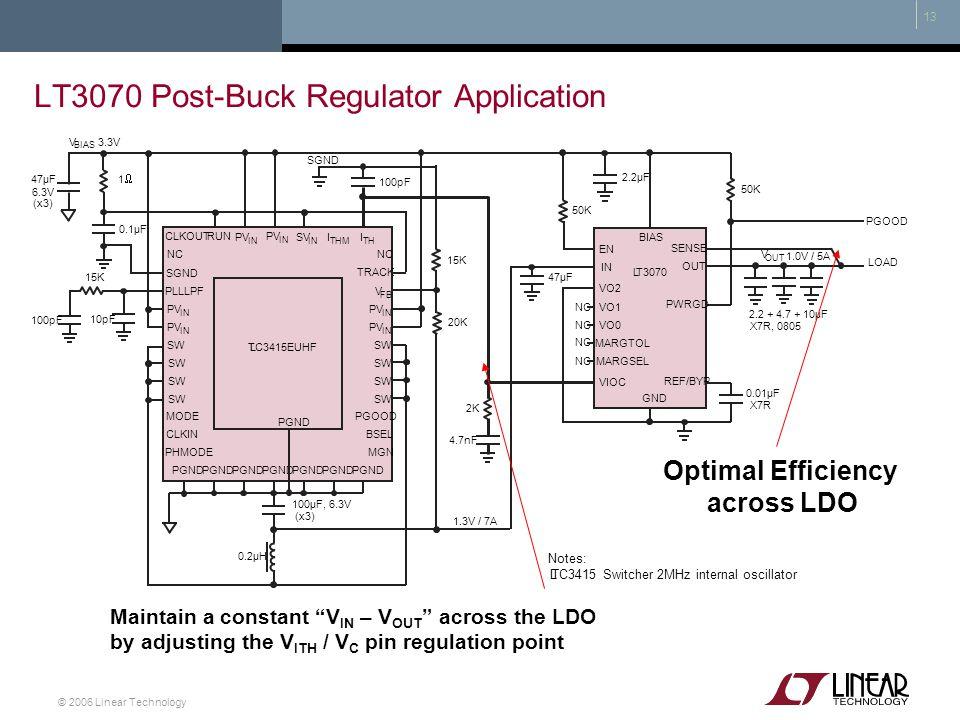 LT3070 Post-Buck Regulator Application