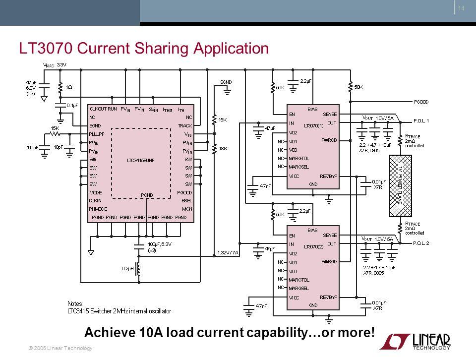 LT3070 Current Sharing Application