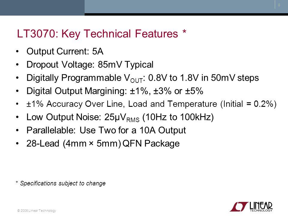 LT3070: Key Technical Features *