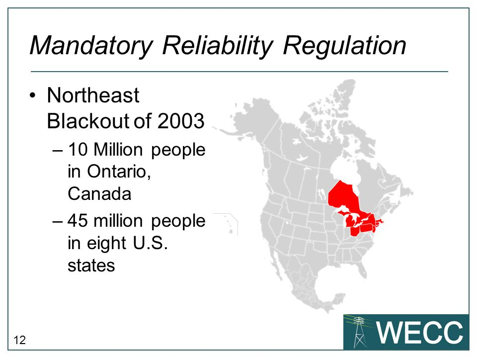 Mandatory Reliability Regulation