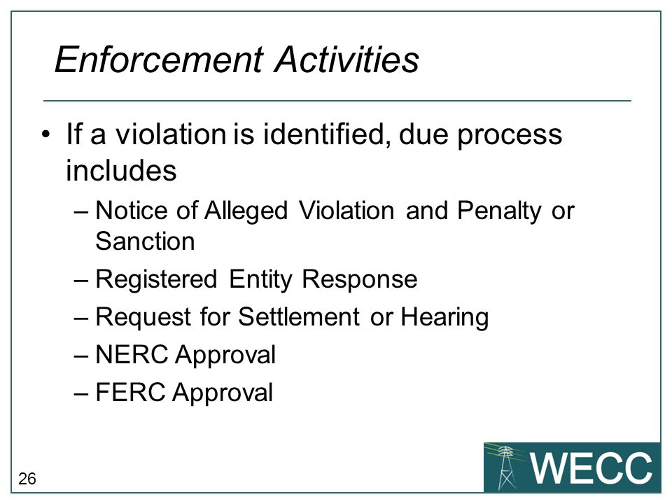 Enforcement Activities