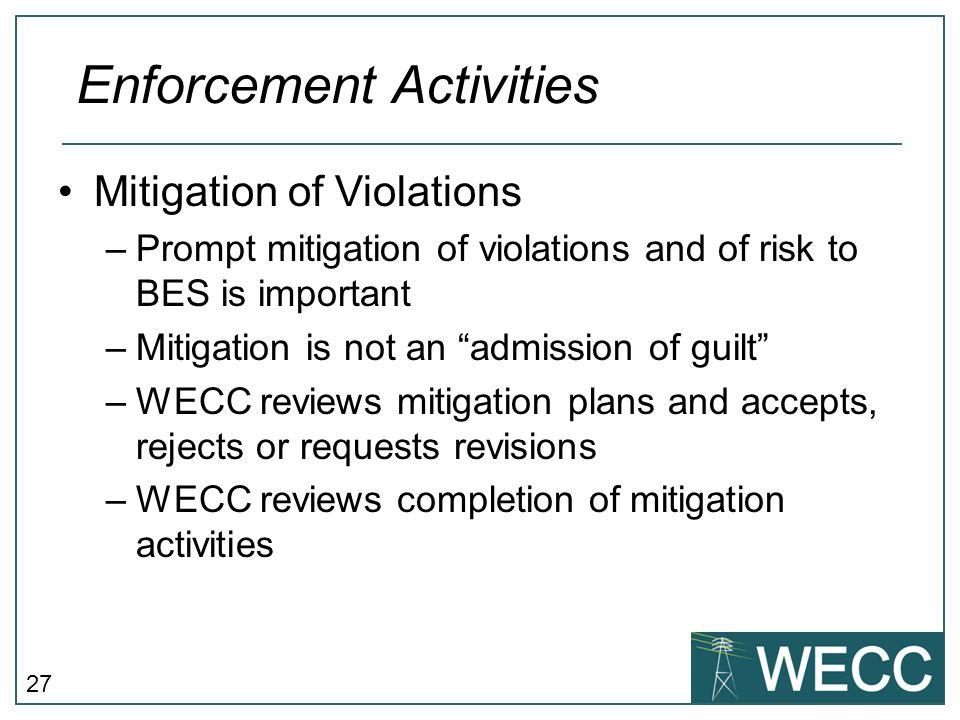 Enforcement Activities
