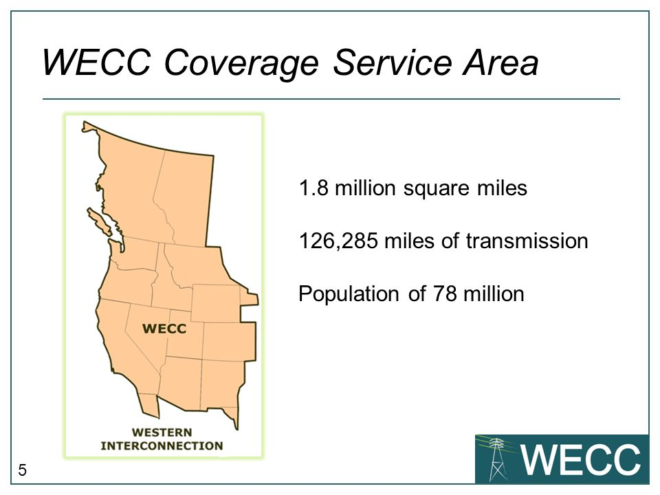 WECC Coverage Service Area