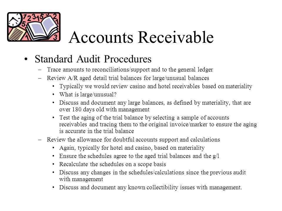Accounts Receivable Standard Audit Procedures